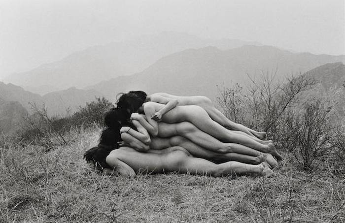 Zhang Huan-Add a Meter to An Anonymous Mountain-1995