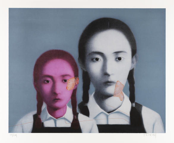 Zhang Xiaogang-Big Family: Two Sisters-2003