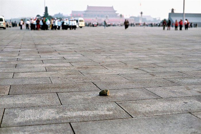Zhao Zhao - Cobblestone, 2007, installation, performance