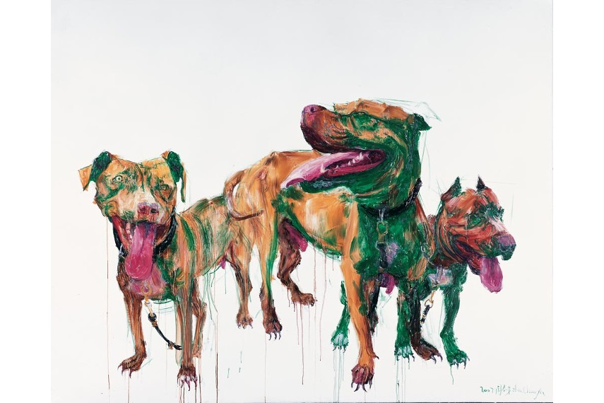 shanghai new arts work wins at auction in a gallery