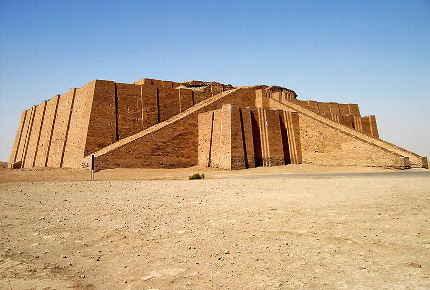 Ziggurat of Ur in Iraq, the first page in the book of world architecture