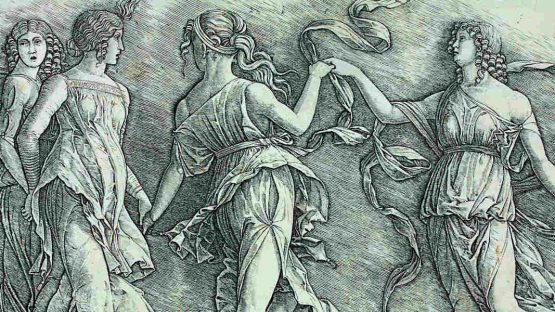 Zoan Andrea - Four Dancing Muses (detail)