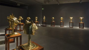 Zodiac Heads, Arken Museum of Modern Art, Skovvej, Denmark; five animalszodiac are home in beijing, see the public video in the news