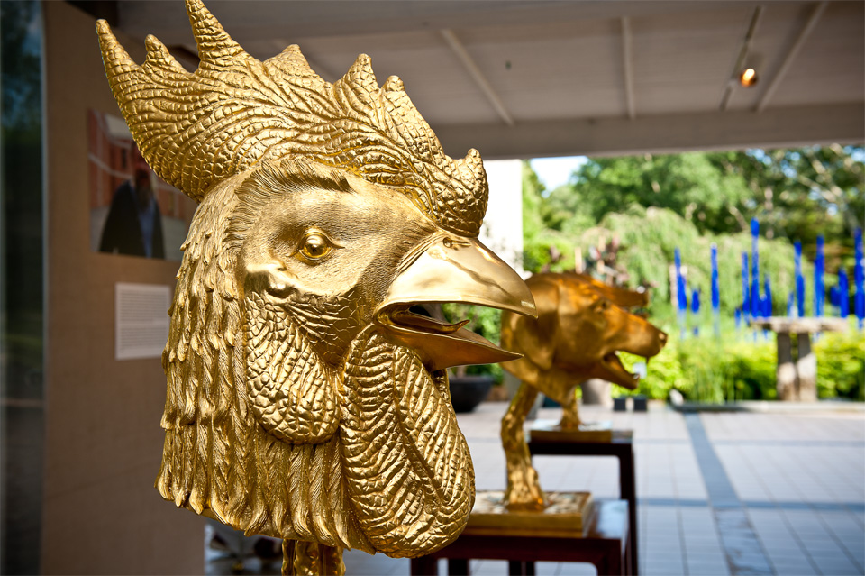 Zodiac Heads, The Long House Reserve, East Hampton, NY; as news reported, only five animalszodiac are back home in beijing