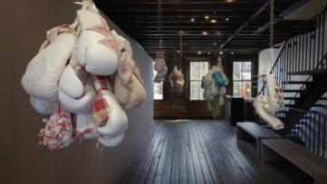 Zoe Buckman Heavy Rag Installation view
