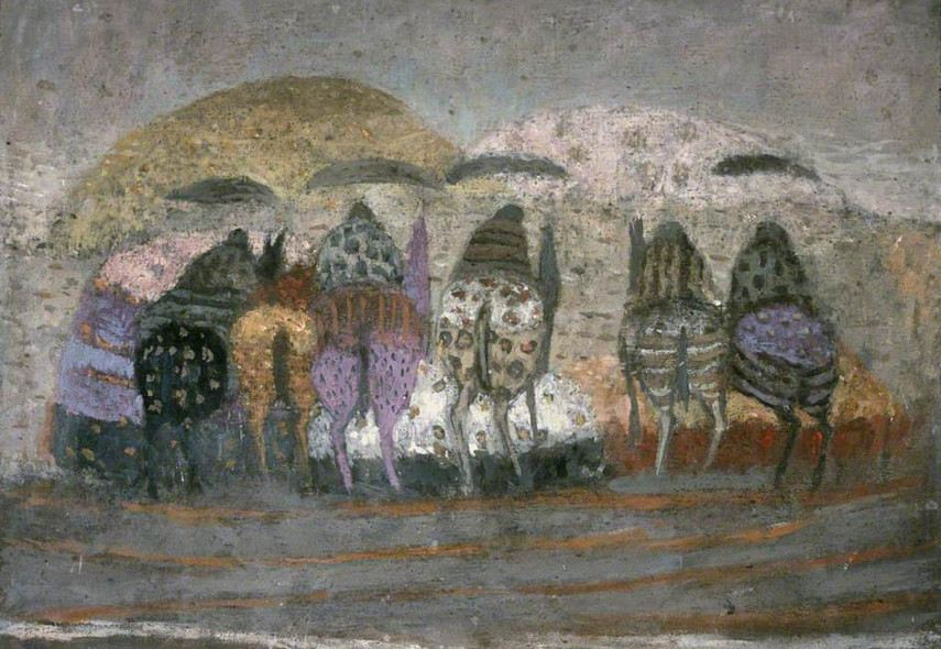 Zoran Music - Horses and Landscape, 1951  arts.