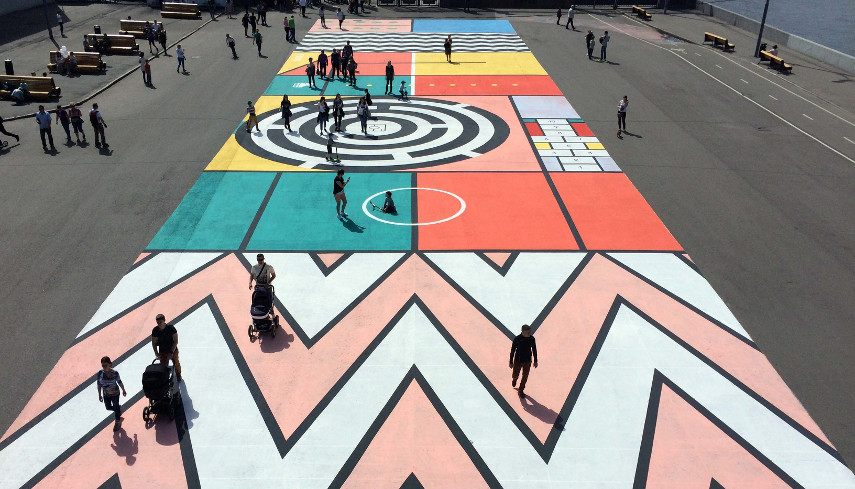 Zukclub - Geometry to children!, Moscow, Russia, 2017 - Image courtesy of artist