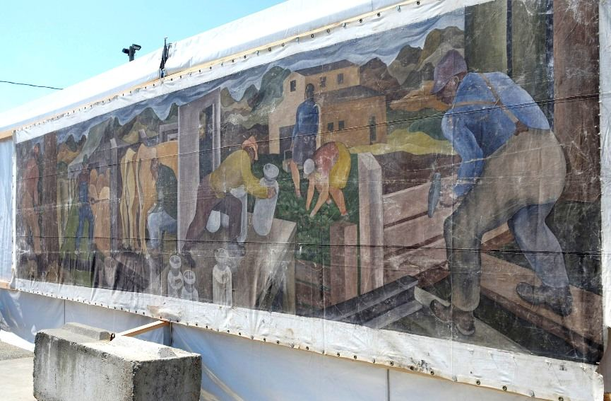 Mural worth $100,000 discovered