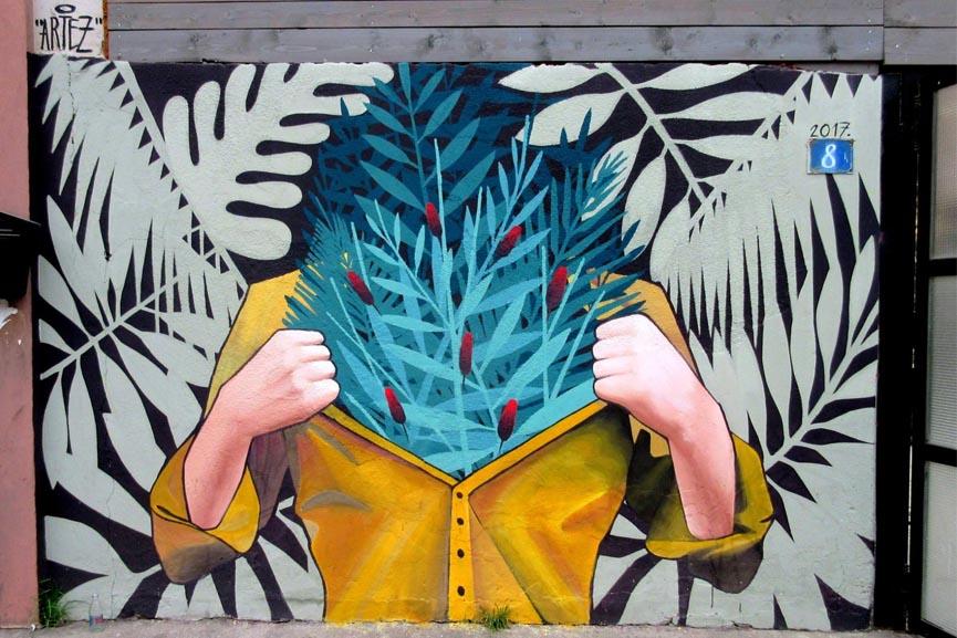 New mural by artez in Belgrade