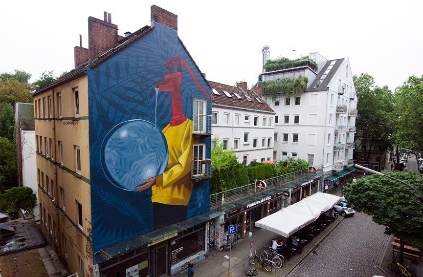 New wall by Artez in Hamburg