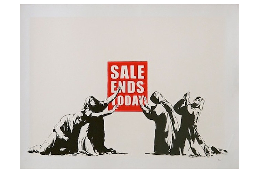 banksy-  Sale- Ends