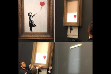 Banksy's Artwork Self-Destructs After it Sells in Sotheby's Auction!