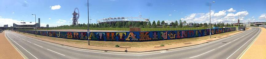 Ben Eine 400 meter mural