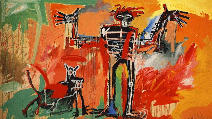 Jean-Michel Basquiat - Boy and Dog in a Johnnypump