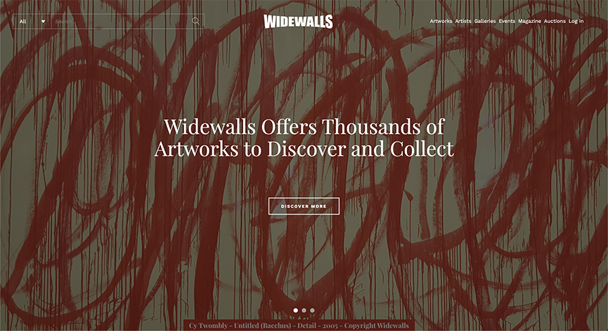 Widewalls Online Art Marketplace