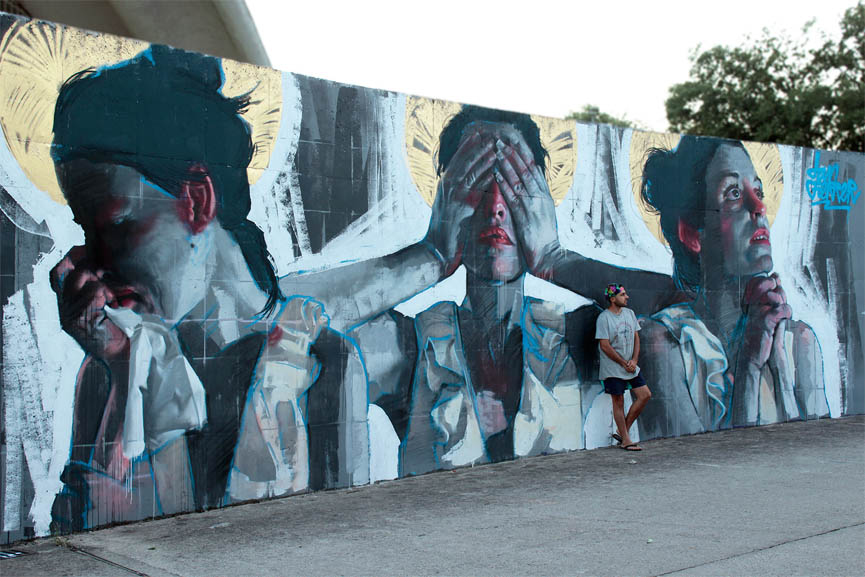 New mural by Dan Ferrer in Avila