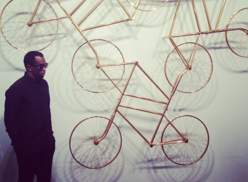 P. Diddy with Weiwei installation
