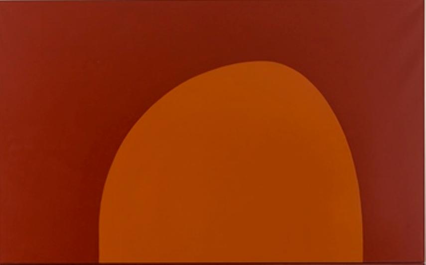 Suzan Frecon, Embodiment of red (orange) [detal], 2013, Oil on linen