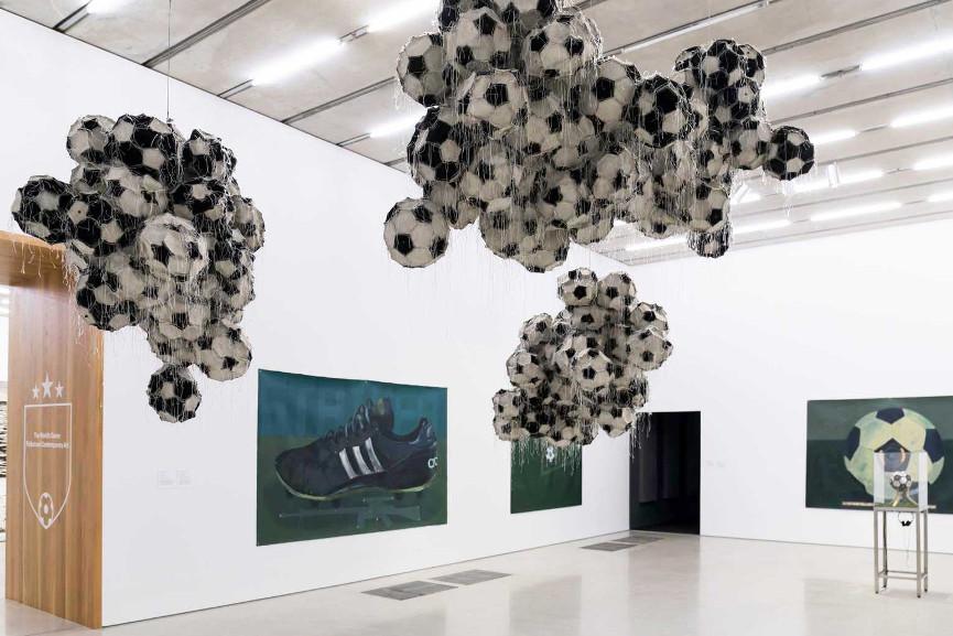 Installation view:The World's Game: Fútbol and Contemporary Art, Pérez Art Museum Miami, 2018