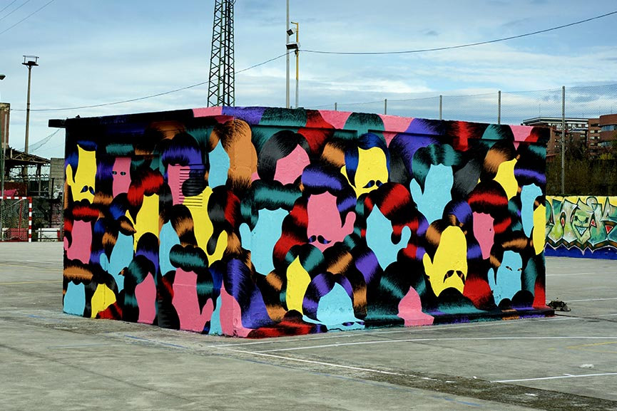 Grip Face mural in Bilbao