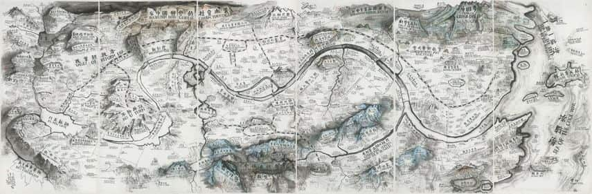 "Qiu Zhijie - Map of ""Art and China after 1989"
