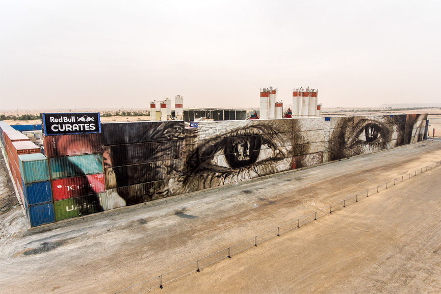 Guido van Helten Jigsaw in Dubai