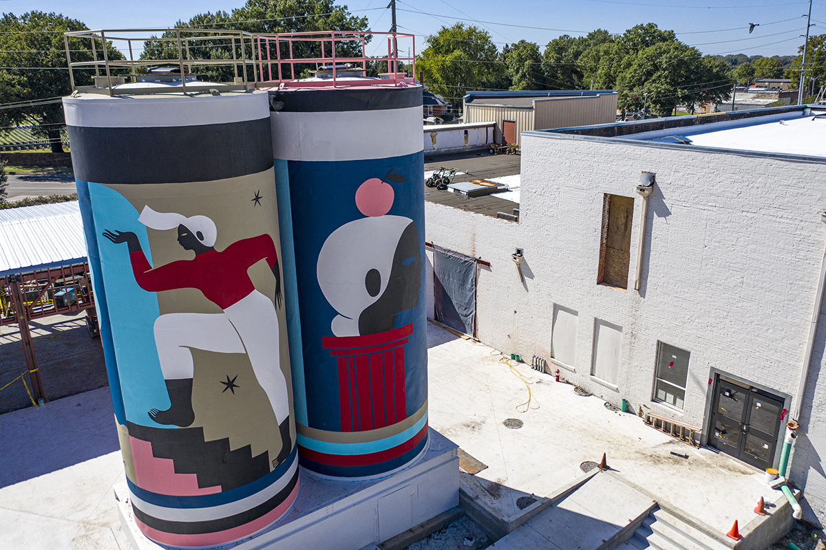 Hilda Palafox (Poni) mural at The Unexpected, Fort Smith, curated by Justkids, 2019