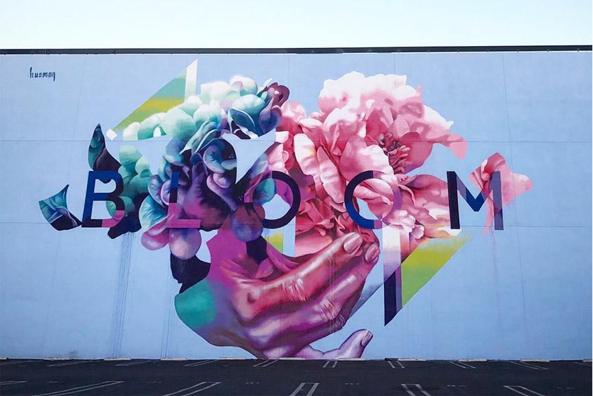 Hueman bloom mural