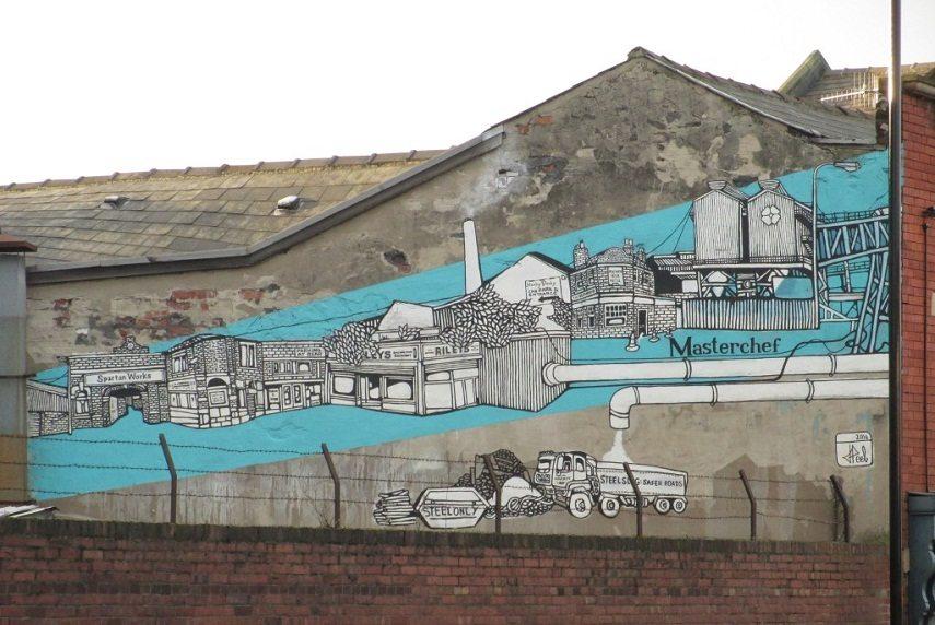 Jo Peel - Attercliffe Wall Mural