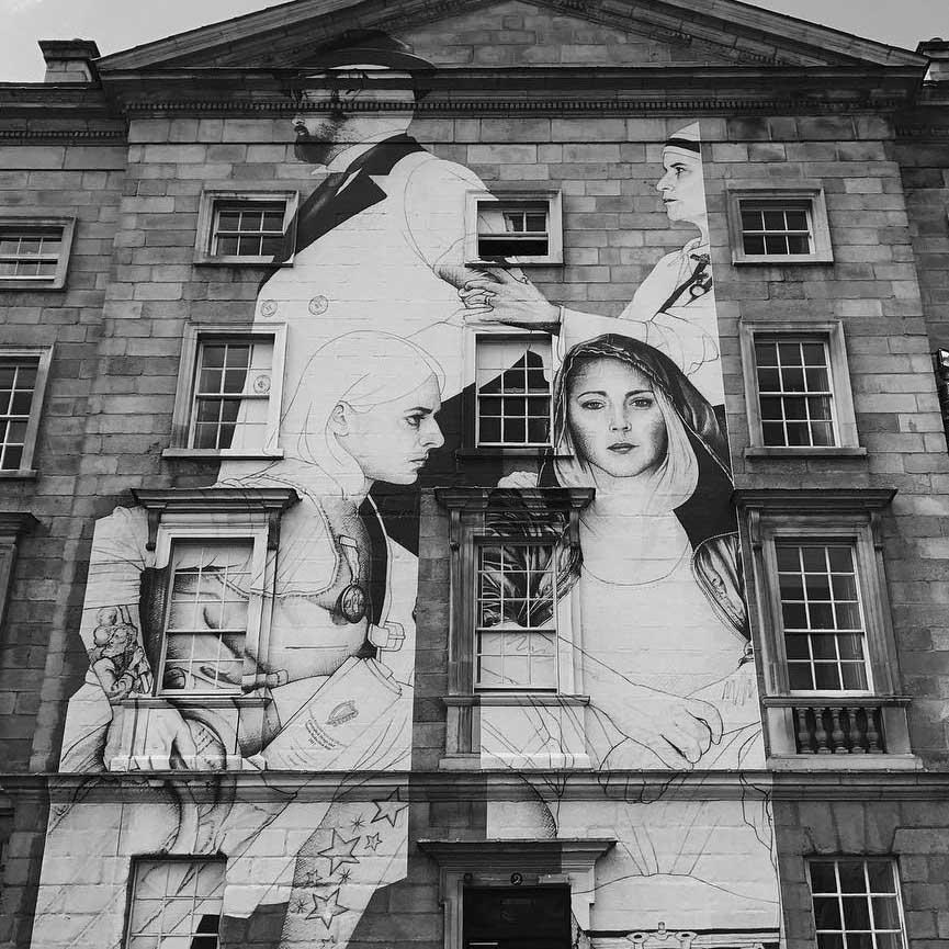 Joe Caslin new mural in Dublin