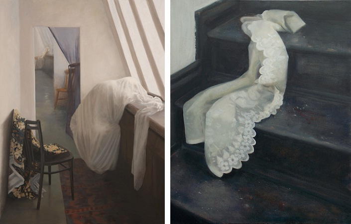 jude mackay, the doorway and on the staircase