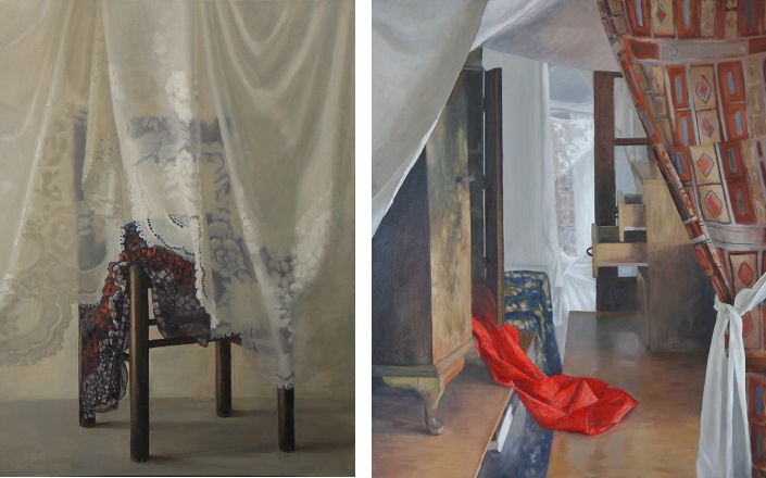 jude mackay, the lace curtain and interior with furniture
