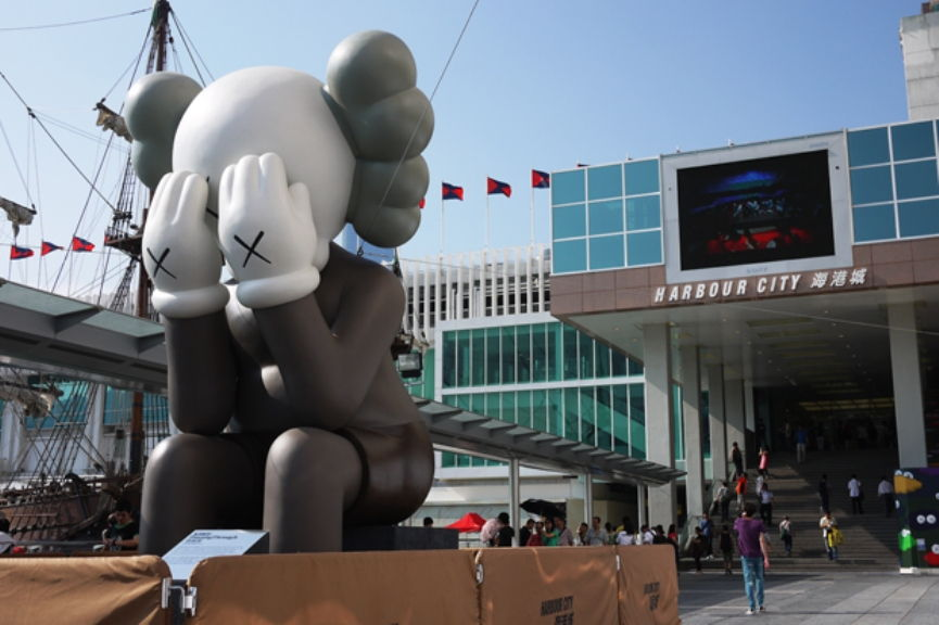 The Return of KAWS' Statue to Hong Kong