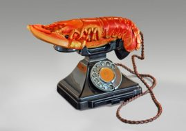 Salvador Dalí and Edward James - Lobster Telephone (red), 1938