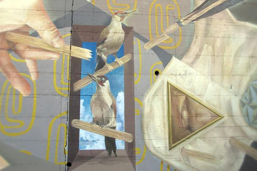 Koz Dos mural in Rome