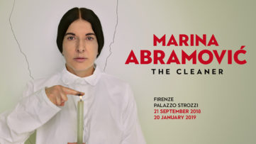 Marina Abramovic Hit by Painting in Florence!