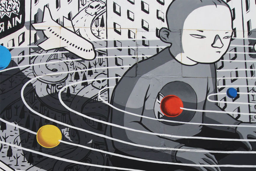 New wall by Millo in Russia