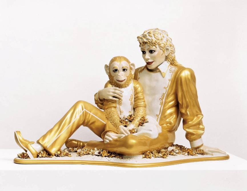 Jeff Koons, Michael Jackson and Bubbles sculpture