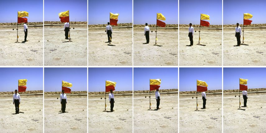 Mohammed Kazem - Photographs with a Flag, 1997