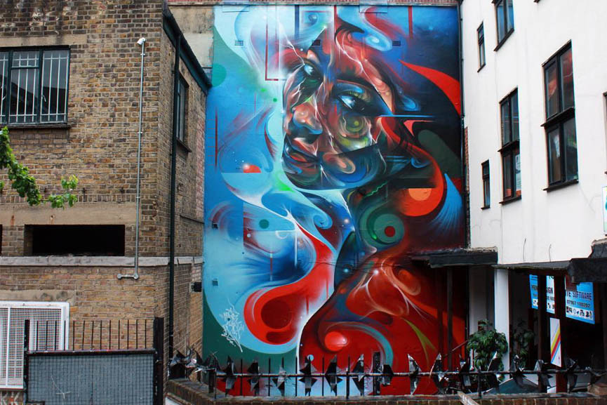 Mr Cenz mural Aquarian Dream