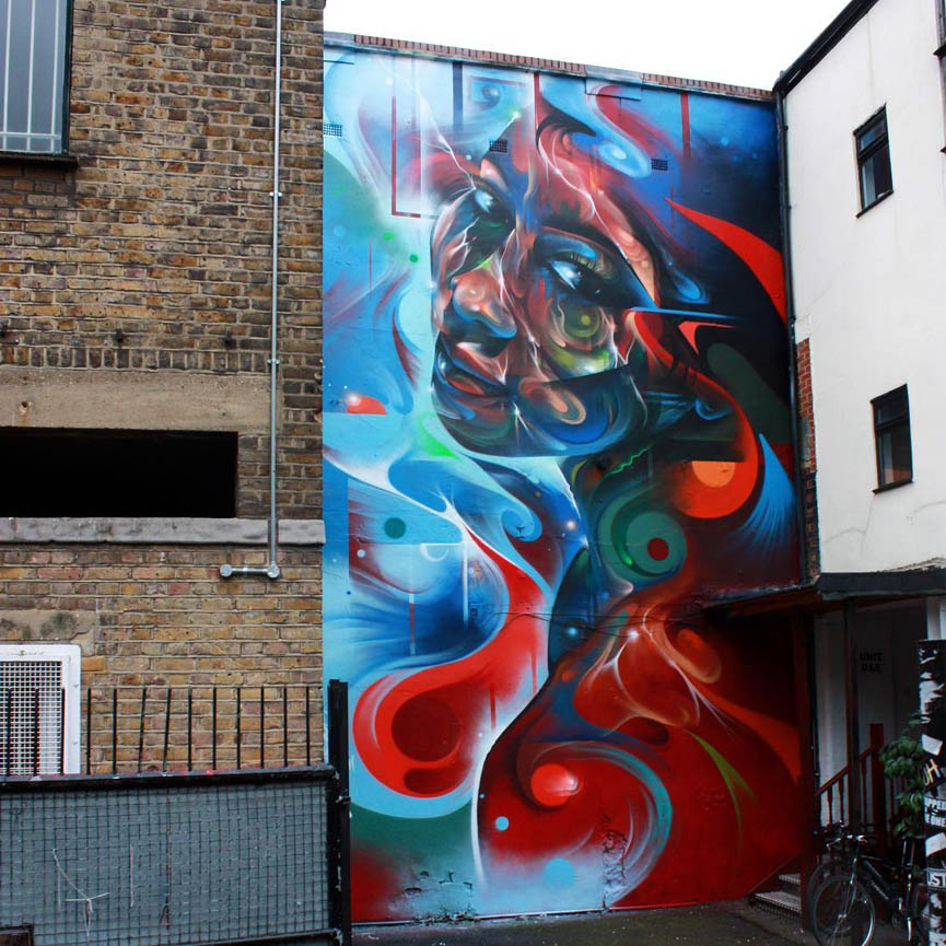 New mural bu mr cenz in London