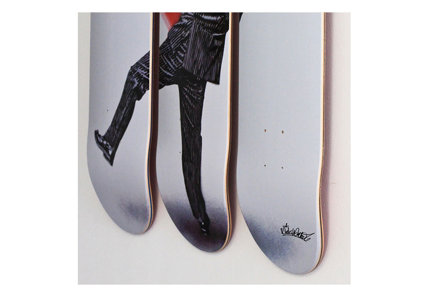 Street art skateboards