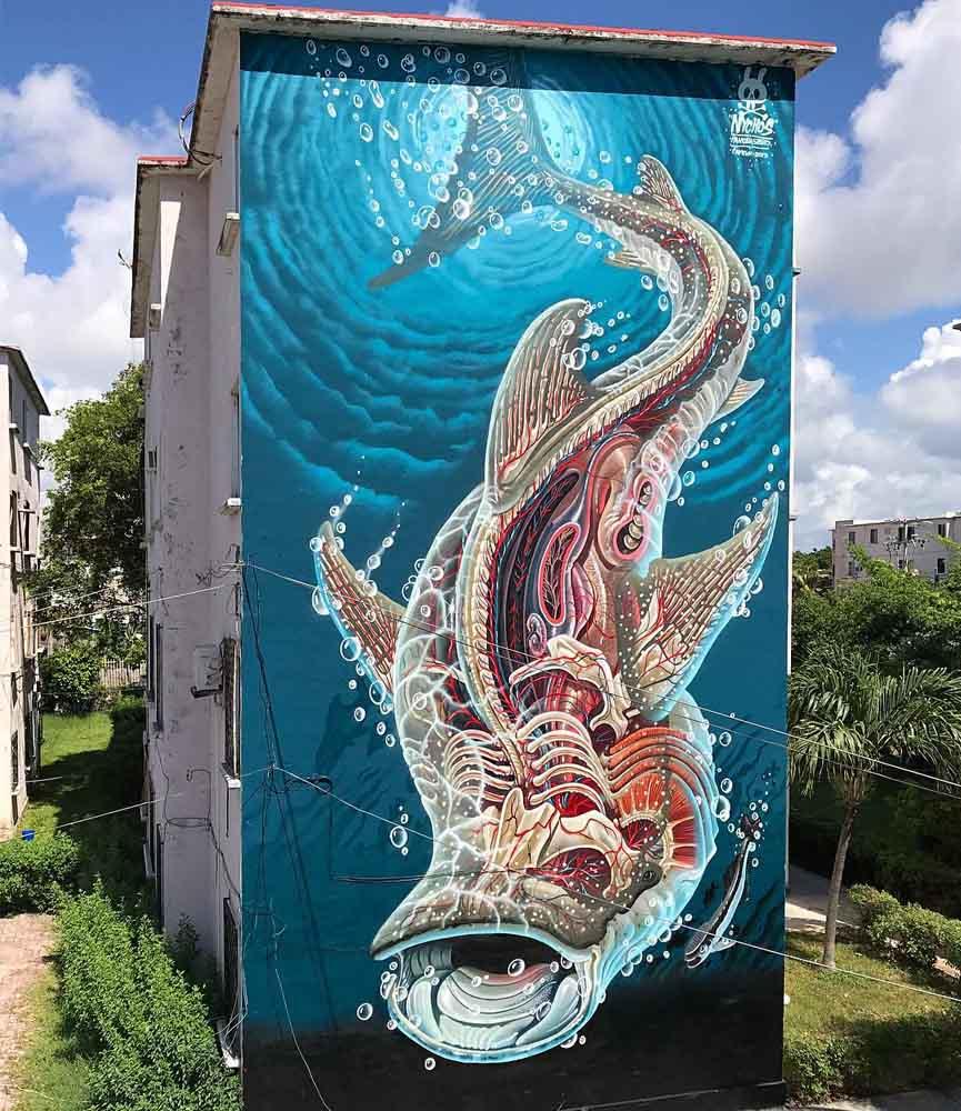 Nychos mural for Seawalls