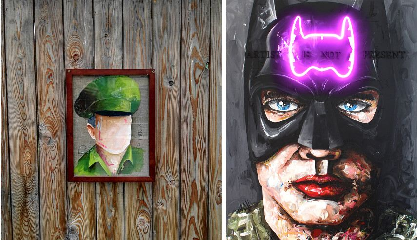 Peintre X - Major (left) Batman (right)