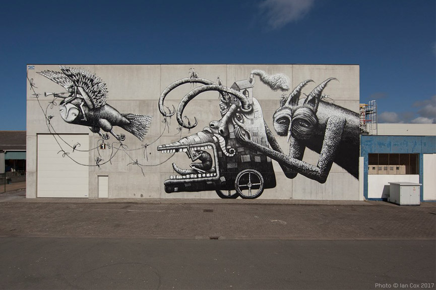 New wall by Phlegm