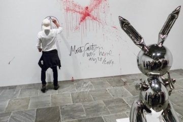 Koons Retrospective Bloodbath
