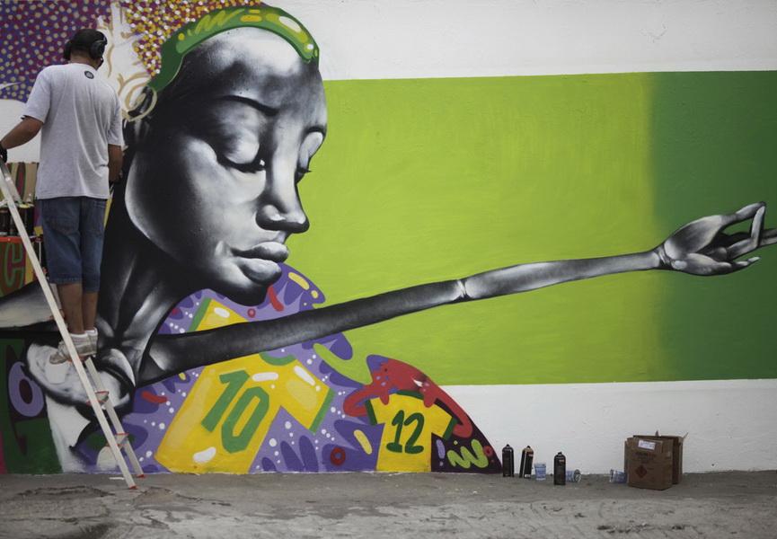 Brazil, 2014, graffiti, fifa, Rio