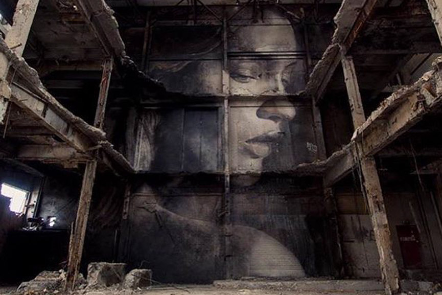 new mural by Rone in australia
