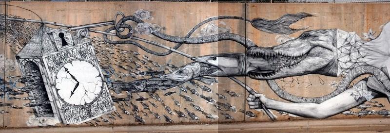 roti Atlanta mural detail
