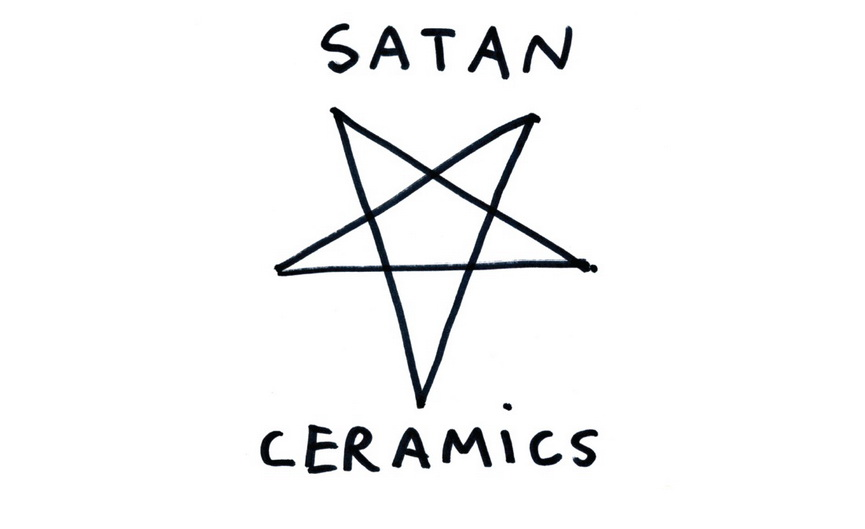Flyer for Satan Ceramics on view at Salon 94